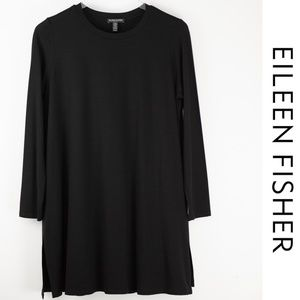 Eileen Fisher Black Tunic Large Petite